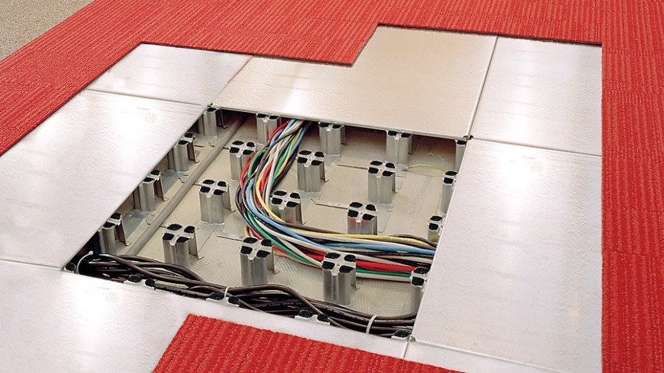 Intercell by interface Low Void Flooring and Cable Management System