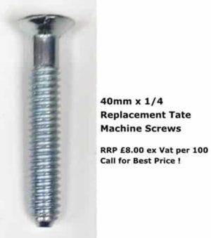 40mm x 1/4 screws tate